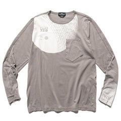 Stone Island Shadow Project Mako Cotton Jersey Garment Dyed LS T-Shirt Gray, T-Shirts