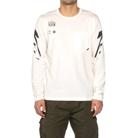 Stone Island Shadow Project Mako Cotton Jersey Garment Dyed LS T-Shirt Natural,