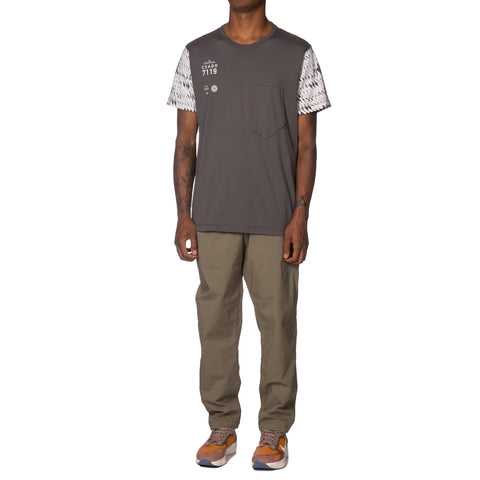 Stone Island Shadow Project Mako Cotton Jersey Garment Dyed SS Pocket T-Shirt Grigio, T-Shirts