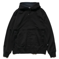 Stone Island Shadow Project Mercerised Supima Cotton Fleece Garment Dyed PO Hooded Sweater Black, Sweaters