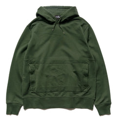 Stone Island Shadow Project Mercerised Supima Cotton Fleece Garment Dyed PO Hooded Sweater Verde, Sweaters