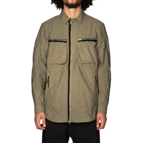 Stone Island Shadow Project Naslan Rip-Stop Shirt Jacket Military Green, Outerwear