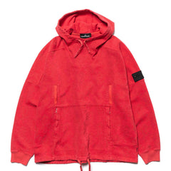 stone island shadow project Panama Weaved Cotton Chenille Empantizing Print Garment Dyed Sweat-Shirt Coral