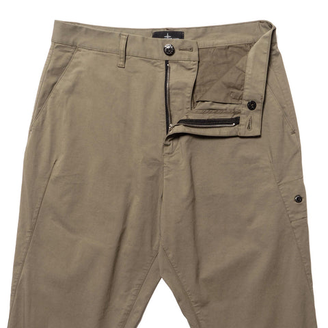 Stone Island Shadow Project Stretch Enzyme Treated Cotton Nylon Gabardine Garment Dyed Pants Verde, Bottoms