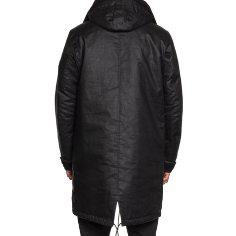 Stone Island Shadow Project Rubberized Linen Parka Black, Outerwear