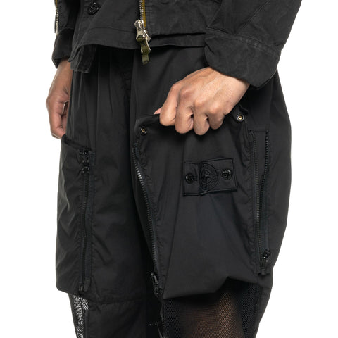 "Stone Island Shadow Project Stretch Cotton Nylon Tela Garment Dyed ""Convert"" Pant Black, Bottoms"