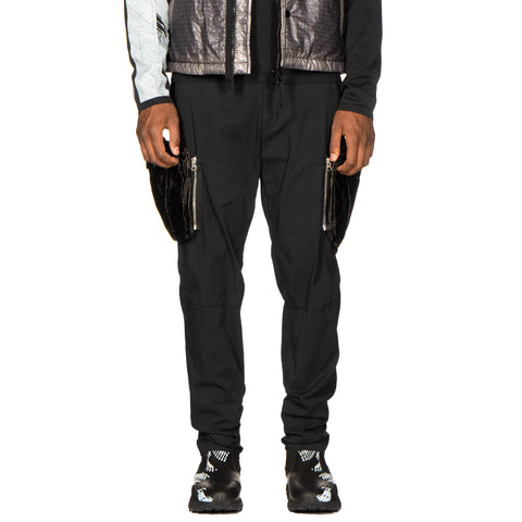 Stone Island Shadow Project Stretch Enzyme Treated Cotton Nylon Gabardine Garment Dyed Cargo Pants Black, Bottoms