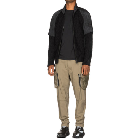Stone Island Shadow Project Stretch Enzyme Treated Cotton Nylon Gabardine Garment Dyed Pants Verde Militare, Bottoms