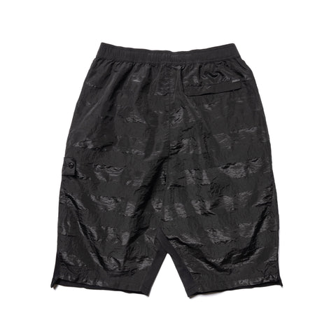 Stone Island Shadow Project Striped Nylon Metal Garment Dyed Bermuda Shorts Black, Bottoms