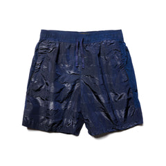 Stone Island Shadow Project Striped Nylon Metal Garment Dyed Drawstring Shorts Blue, Bottoms