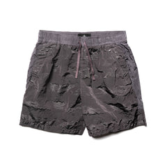 Stone Island Shadow Project Striped Nylon Metal Garment Dyed Drawstring Shorts Peltro, Bottoms