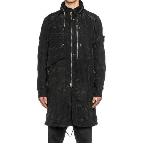 Stone Island Shadow Project Striped Nylon Metal Garment Dyed Parka Black, Outerwear