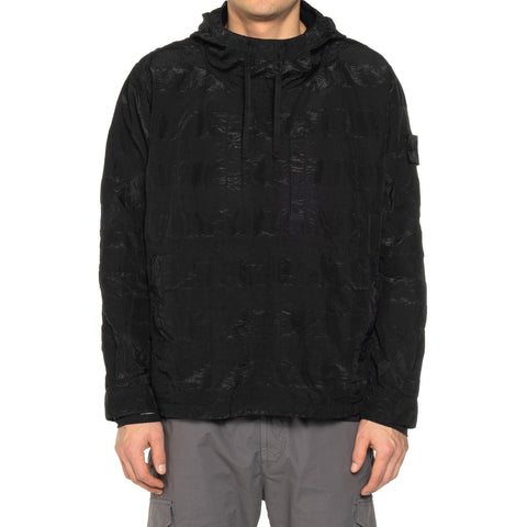 Stone Island Shadow Project Striped Nylon Metal Garment Dyed Pullover Hooded Jacket Black, Outerwear