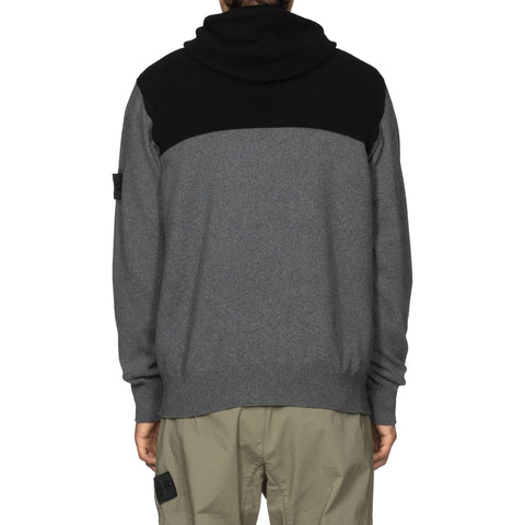 Stone Island Shadow Project Winter Cotton And Wool Mixed Yarn Gauzed Effect Knit Antracite, Knits