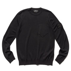 Stone Island Shadow Project Wool Silk Knit Crewneck Sweater Black, Sweaters
