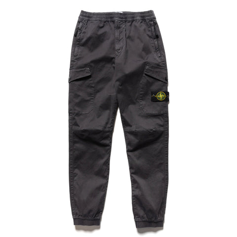Stone Island Stretch Broken Twill Cotton 'Old Effect' 2 Pocket Cargo Pant Antracite, Bottoms