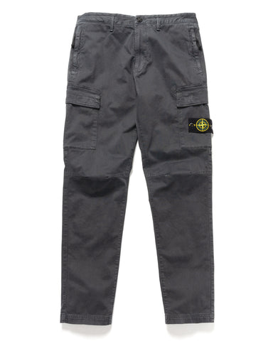 Stone Island Stretch Broken Twill 'Old Effect' 2 Pocket Slim Cargo Pant Charcoal, Bottoms