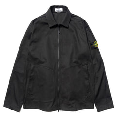 Stone Island Stretch Cotton Gabardine Overshirt Black, Shirts