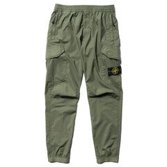 Stone Island Stretch Cotton Tela Paracadute Garment Dyed 2 Pocket Pant Olive, Bottoms