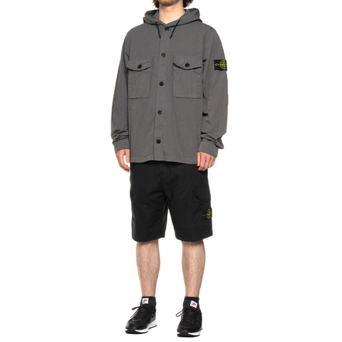 Stone Island Stretch Cotton Tela Paracadute Garment Dyed Cargo Short Black, Bottoms