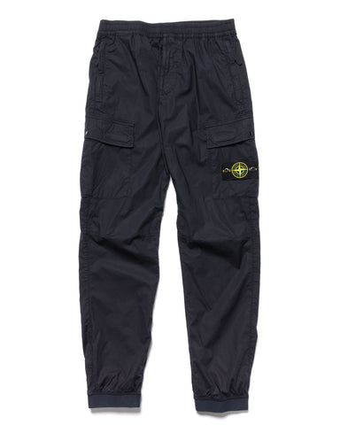Stone Island Stretch Cotton Tela Paracadute 2 Pocket Easy Pant Navy Blue, Bottoms