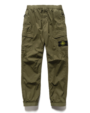 Stone Island Stretch Cotton Tela 'Paracadute' 2 Pocket Easy Pant Olive, Bottoms