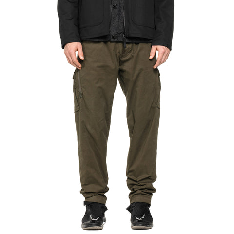 Stone Island Stretch Cotton Twill Ghost Piece Easy Waist Cargo Pants Olive, Bottoms