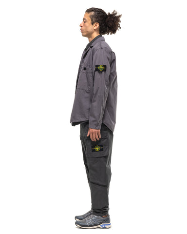 Stone Island Stretch Cotton Twill Multi Pocket Cargo Pant Charcoal, Bottoms