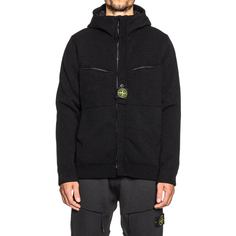 Stone Island Stretch Wool With WINDSTOPPER® and PrimaLoft® Insulation Jacket Black, Outerwear