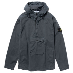 "Stone Island Stretched Textured Cotton Garment Dyed ""Old Effect"" Hooded Overshirt Fumo, Sweaters"
