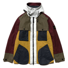 Stone Island Tela Placcata Bicolor Primaloft Hooded Jacket with Liner Mosto, Outerwear