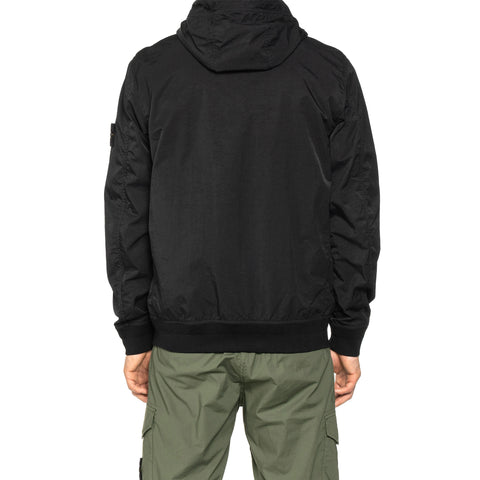 Stone Island Tightly Woven Nylon Twill TC Garment Dyed Hooded Blouson Black, Outerwear