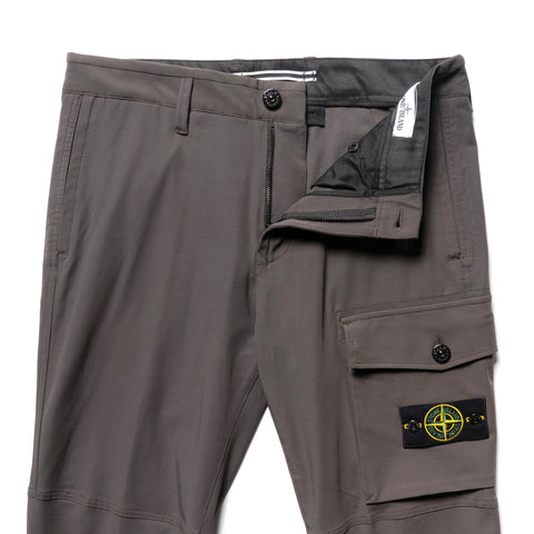 Stone Island Two Way Stretch Cotton Nylon Twill 1 Pocket Pant Peltro, Bottoms