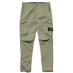 Stone Island Two Way Stretch Cotton Nylon Twill Regular Tapered 2 Pocket Pant Sage, Bottoms