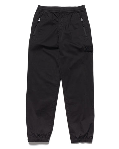 Stone Island Wool Satin Ghost Piece Garment Dyed Pant Black, Bottoms