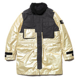 Iridescent Coating Tela With Reflex Mat Coat With Detachable Waistcoat Grano