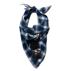 TAKAHIROMIYASHITA TheSoloist. Boy Scout Scarf Blue/White, Accessories
