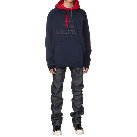 TAKAHIROMIYASHITA The SOloist Multi Color Oversized Pullover Hoodie Navy x Black x Red