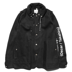 TAKAHIROMIYASHITA TheSoloist. Wrapped Collar Coverall Jacket Black, Jackets