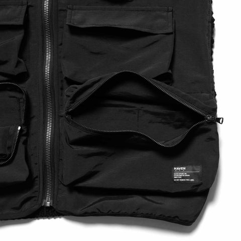 HAVEN Tactical Vest - Hand Knit Wool/Cotton Nylon Twill, Outerwear