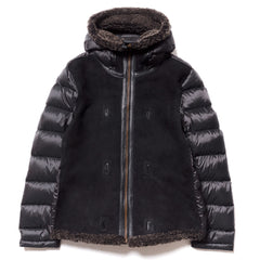 Ten c Shearling Hooded Liner Black, Jackets