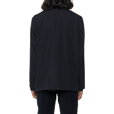 THE CONSPIRES Striped Jacket Navy, Outerwear