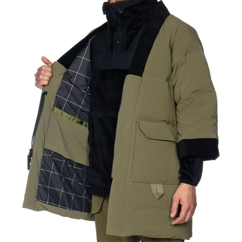 The North Face Black Series Urban Kimono Down Coat Burnt Olive Green, Jackets