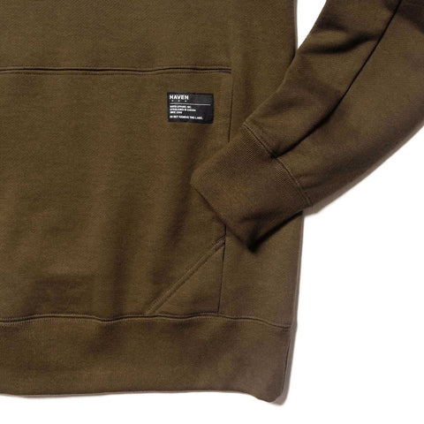HAVEN Training Crewneck - Cotton Fleece Olive, Sweaters