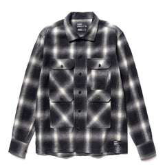 HAVEN Trapper Over Shirt - Cotton Shaggy Ombre Black, Shirts