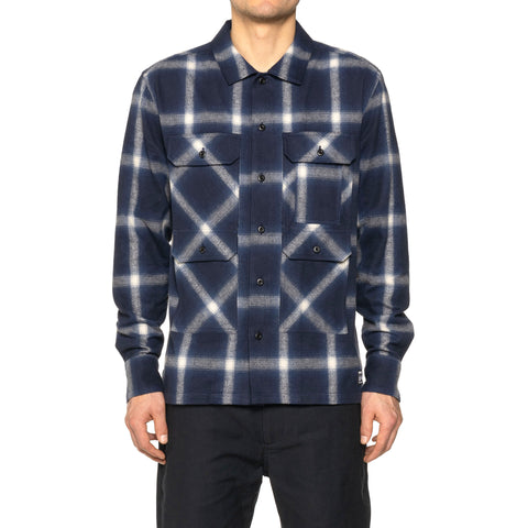 HAVEN Trapper Over Shirt - Cotton Shaggy Ombre Navy, Shirts