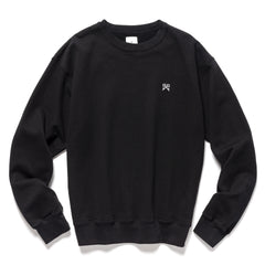 Uniform Experiment Authentic Wide Crewneck Sweater Black, Sweaters