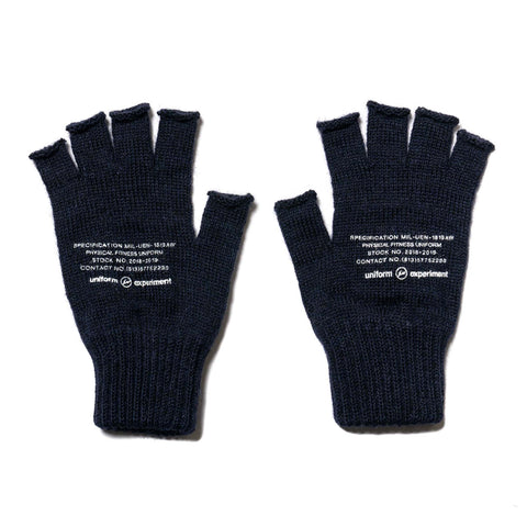 Uniform Experiment Black Sheep Finger Less Glove Navy, Accessories