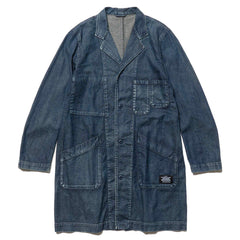 Uniform Experiment Damaged Shop Coat Indigo, Jackets