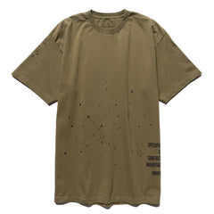 Uniform Experiment Dripping Tee Khaki, T-Shirts